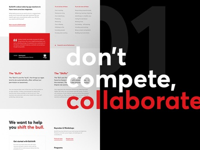 Don't compete, collaborate. marketing type website introduction homepage landing web