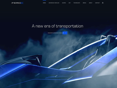 Ferox Advanced Vehicles Website design marketing type ui video animation transition web website