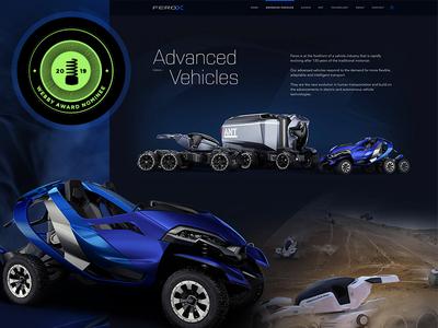 Ferox - Webby Nominee! marketing homepage ui web awards website nomination webby