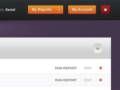Admin Interface buttons application app data grid