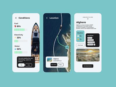 Riva Yacht Concept App mobile ui mobile branding yacht ux ui minimal luxury design boat app