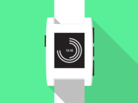 Pebble Illustration w/ Polar Watchface