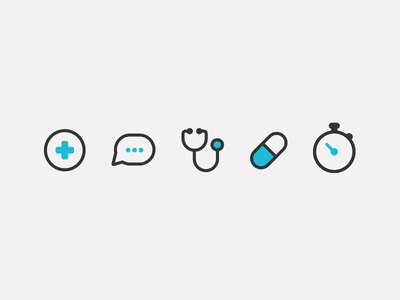 Momentum Icons uber icon line minimal healthcare flat design illustrator rewards