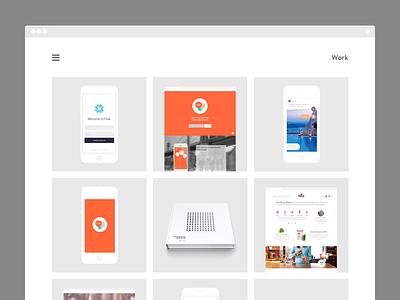 New Portfolio Is Up! animation template blog transition icon flat responsive motion minimal portfolio