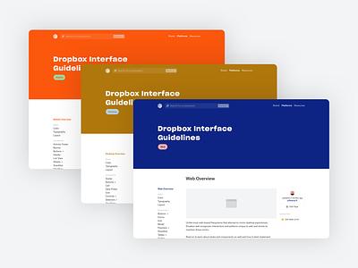 Dropbox Interface Guidelines minimal guidelines documentation component desktop mobile web design system