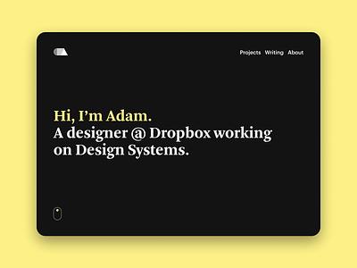 Updated Portfolio 🎉 product design dark theme nightmode portfolio design ui minimal
