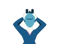 Character illustration communication - To see binoculars see search vector illustrator character illustration