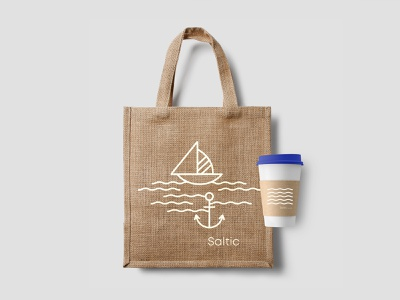 Saltic | Eco bag id boat sea bag blue identity logo branding hotel