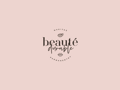 Beauty Durable mark brand branding logo eyes women face clinic beauty spa artist makeup