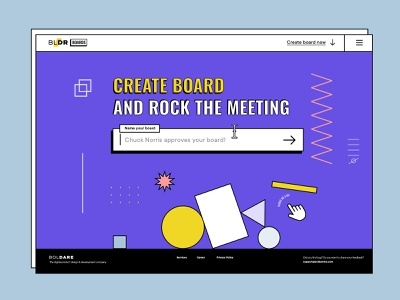 Landing | Create board uidesign webdesign animation awwwards crazy remote collaboration board shape landing tool