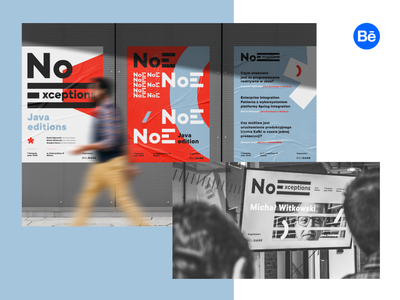 NoE ID logotype typography developers boldare software software house red meetup event branding brand poster logo design id logo