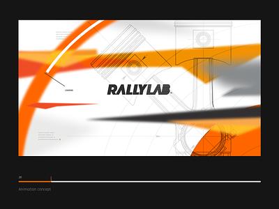 Animation concept | Screen intro brand branding orange wrc speed car rally concept animation intro