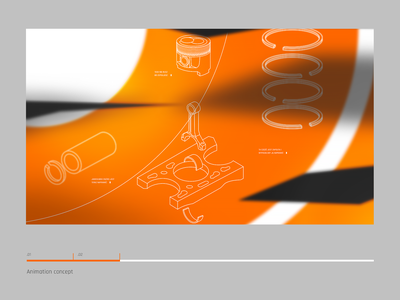 Animation concept | Screen intro mechanics car storyboard concept animation orange brand branding rally