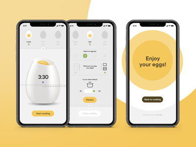 Egg cooking application 🥚 kitchen settings yellow easter happy happy easter app cooking egg