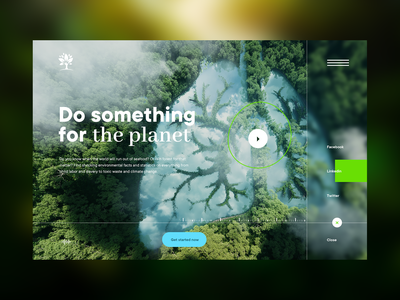 Concept website | Problems of our earth 🌍 minimal clean animation motion blur blue eco green web design webdesign typography homepage landingpage nature forest water problem ecology earth