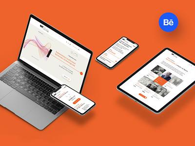MIT | Presentation design minimal landingpage website event con orange technology interface web design webdesign ux ui