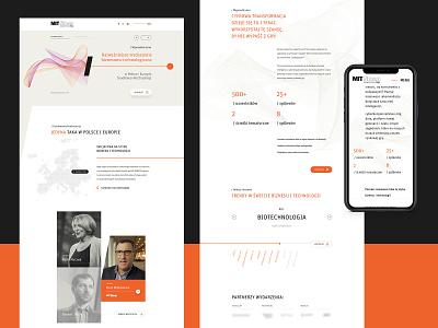 MIT Conference | Website conference event technology mit laskosz landing landingpage abstract orange ui minimal webdesign