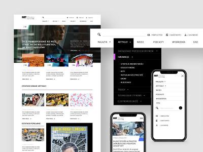 MIT Sloan | News platform information website web design design webdesign mobile desktop ui news platform minimal