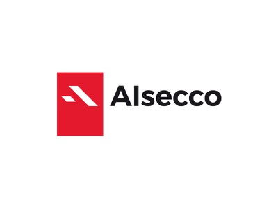 Alsecco manufacturer window factory mark typography red alsecco logo