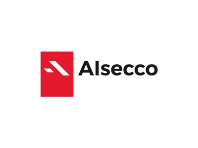 Alsecco manufacturer window factory mark typography red alsecco logo