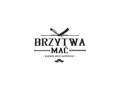 Brzytwa Mać | Logo razor branding logo barber