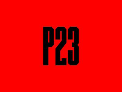 P23 | Logo brand dance festival branding techno rave club music logo