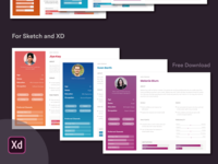 FREE User Persona Template for Sketch and Adobe XD
