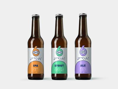 6DOTS Accessible Braille Beer Bottle Branding