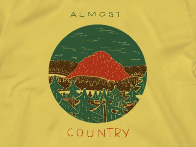Almost Country Tee lottery tickets band cape town south africa somerset west 3 colour screenprint