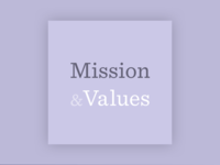 Mission & Values Podcast Cover