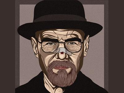 '' walter white '' digitalart vector drawing draw art design illustration