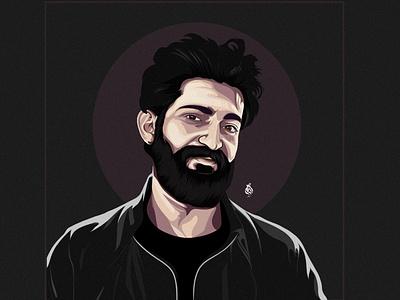 YAYA  - يحيي عزام digitalart vector draw drawing art design illustration