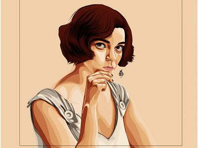 Beth Harmon digitalart vector draw drawing art design illustration