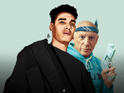 Marwan pablo - pablo picasso pablo picasso artwork digitalart vector draw drawing art design illustration