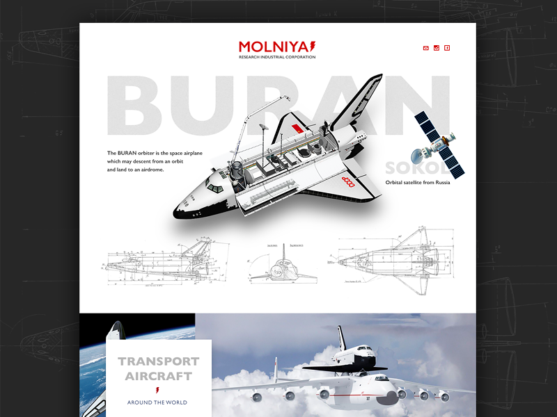 Buran's website space spaceship buran web