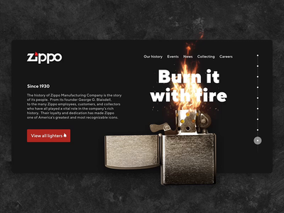Zippo website бернмазафакаберн animation zippo burn interface fire web
