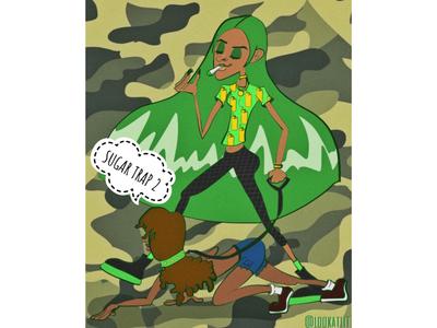 Illustration/Cover Design for Rico Nasty