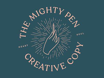 The Mighty Pen - circular leeds uk leeds uk army of cats graham pilling circular hand copywriter copywriting pen graphicdesign logotype logo design logo