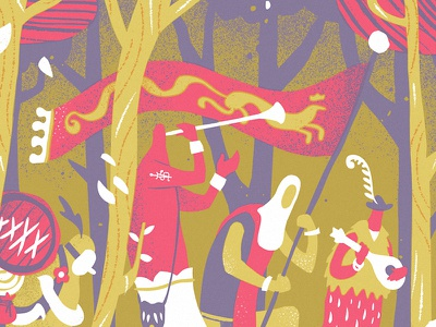 Richard Dawson Gig Poster gigposter richard dawson travellers trees woodland troubadors medieval screenprint