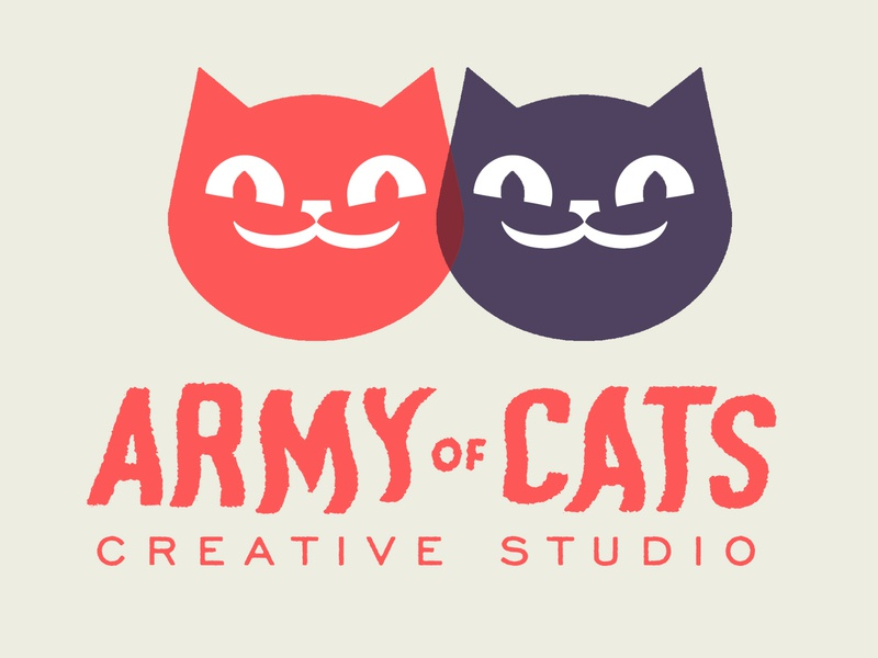 Army of Cats Creative Studio uk leeds graham pilling army of cats studio kitties maskot logo cats design