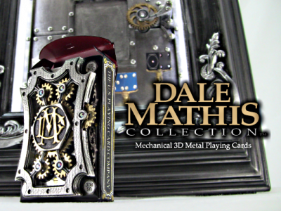 3D Metal & Mechanical Playing Cards. dale mathis steampunk gears playing cards kinetic industrial design novelty dice