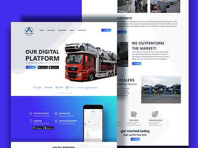 Autosled Digital Transportation branding maps car webdesign truck platform transport transportation uidesign