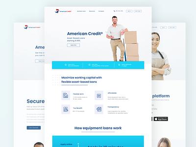 american credit platform landingpage webdesign uidesign loan loan app project creditcard american credit