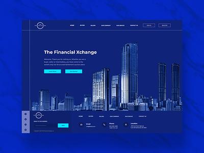 Financial tfxlive landing page startup fintech ux ui uxdesign ui design concept financial services landing page 2020 trend branding uidesign financial webdesign