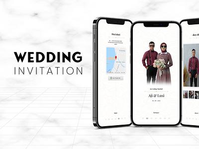 Wedding invitation - Digital concept illustration american branding webdesign ui design website wedding website wedding invite wedding invitation invite wedding