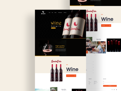 Wine Sangria web design web project website ux ecommerce design web branding ui ux design product wine landing page web design website design ux design wine glass wine logo wine branding wine