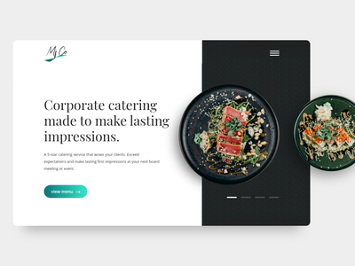 Catering Service UI Design Challenge #2 catering services catering caterer food ui website design website design ui challange dailyuichallenge