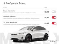 Tesla configurator screen