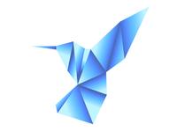 Origami Style Hummingbird