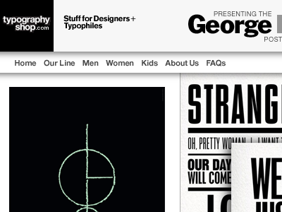 George Lois Massimo Vignelli Homepage for Typography Shop